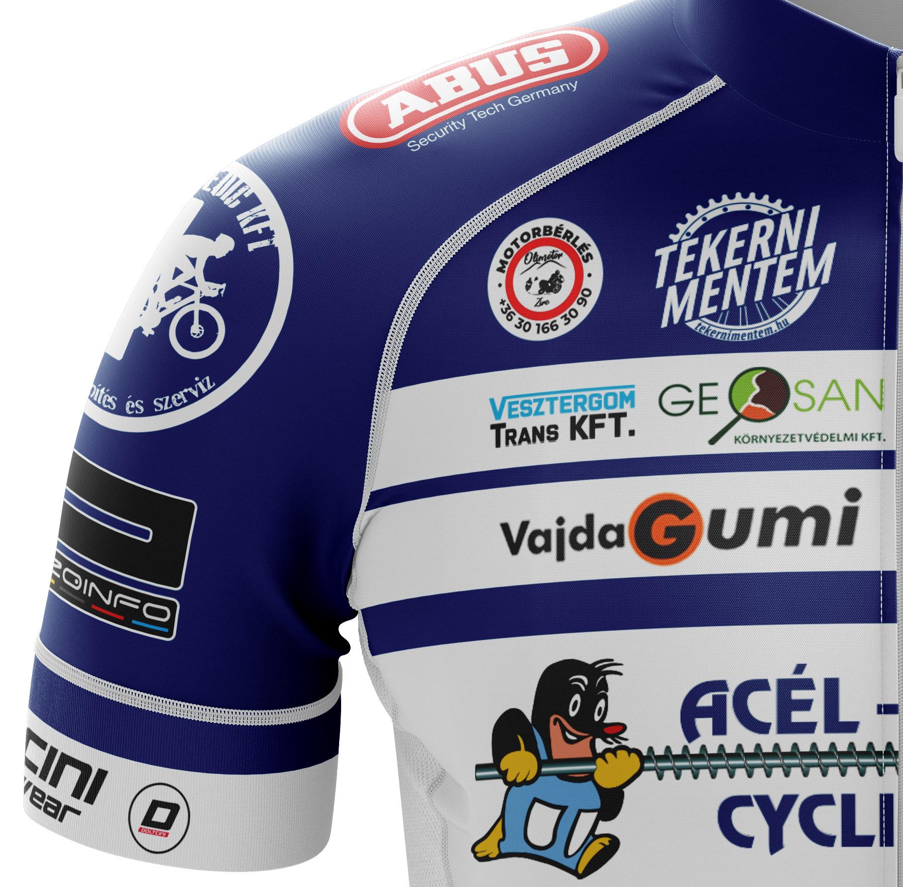 Acél-Vakond Cycyling Team Kerékpár Mez látvány terv